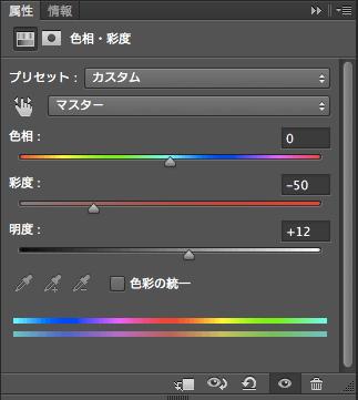 色相・彩度の属性