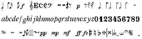 音符フォント「ONGAKUN」