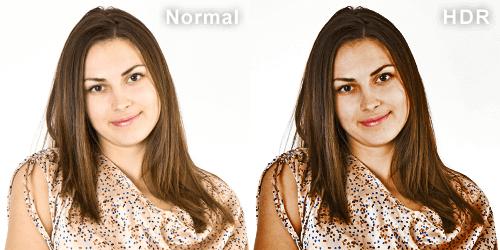 HDR加工を施した人物写真