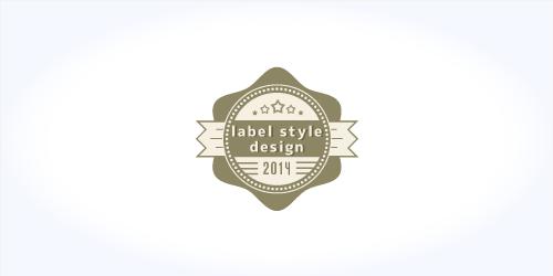 ラベル風デザインのロゴ