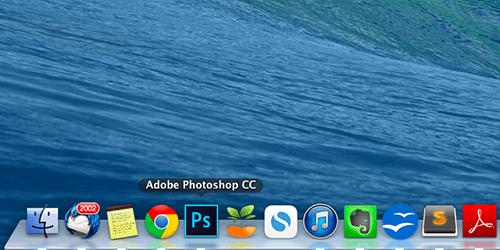 DockからPhotoshopをクリック