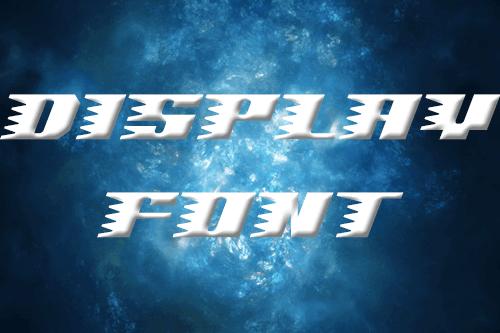 装飾文字なら使いたい!ディスプレイフォント20選