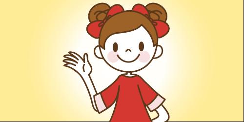 Illustratorのベジェ曲線を用いて制作した画像 パスで描く女の子のキャラクター