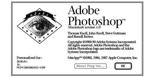 Photoshop1.0の起動画面