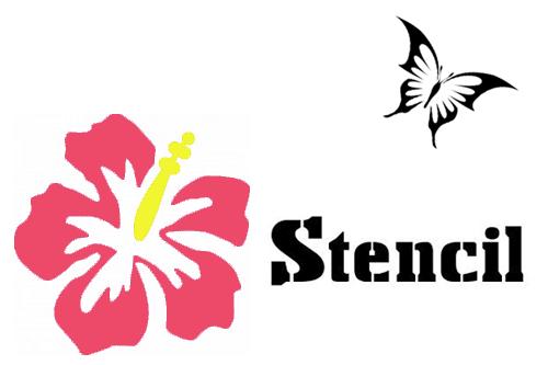 ステンシルフォント