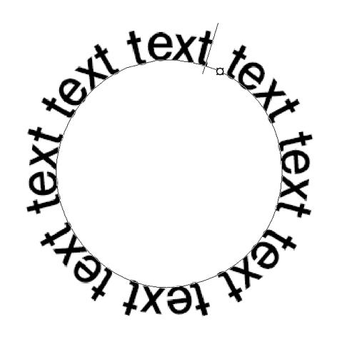 円を描いて文字入力
