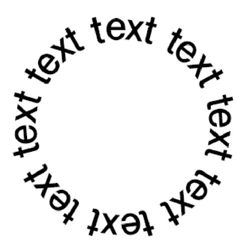 円に沿った文字が完成